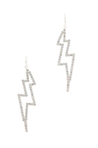 Rhinestone Lighting Bolt Drop Earring