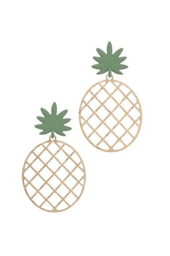 Pineapple Shape Post Drop Earring