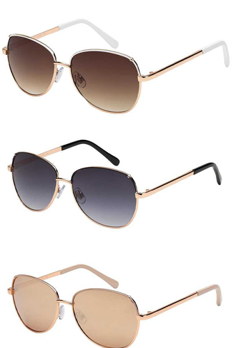 Trendy Fashion Retro Aviator Sunglasses