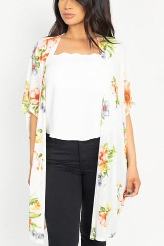Flower Print Mesh Jacket