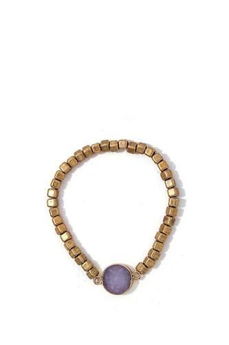 Modern Multi Beaded And Stone Bracelet