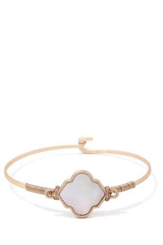 Moroccan Shape Metal Bracelet