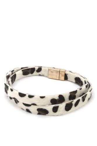 Faux Fur Animal Print Wrap Bracelet