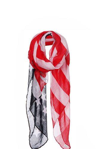 Chiffon American Flag Long Scarf