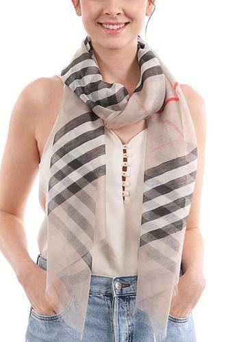 Stylish Chiffon Modern Stripe Scarf