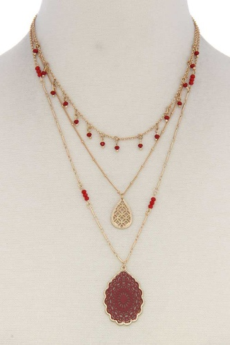 Three Layer Fashion Necklace