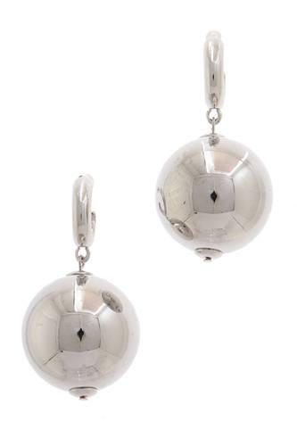 Metal Bead Drop Earring