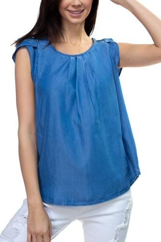 Tulip Sleeve Tencel Shirt
