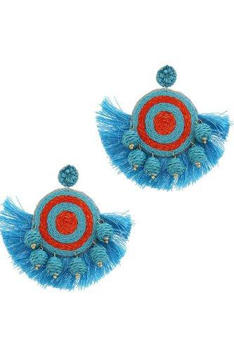 Fashion Fan Tassel Drop Earring