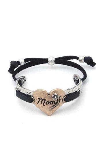 Mom Heart Metal Bracelet