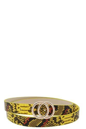 Stylish Python Print Belt