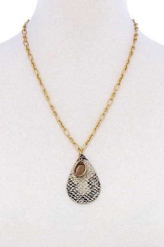 Stylish Tear Drop Shape Chain Necklace