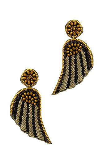 Fashion Modern Wing Patch Drop Earring