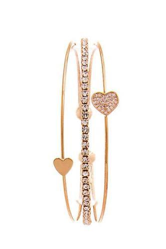 Chic Fashion Triple Layer Heart Bracelet