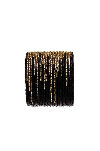 Multi Beaded Thick Bangle Bracelet