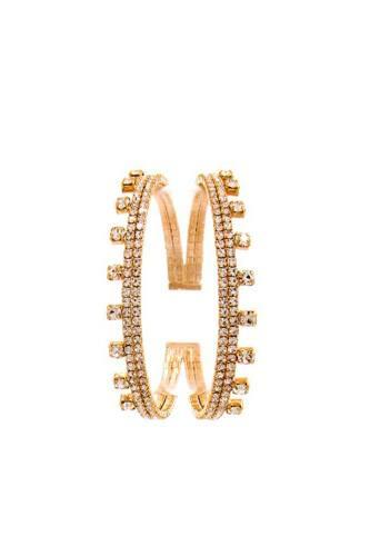 Double Layer Multi Rhinestone Bracelet
