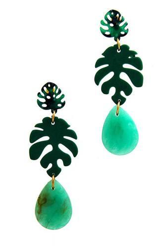 Fashion Acetate Leaf Drop Earring