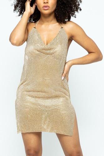 Halter Pure Metal Dress