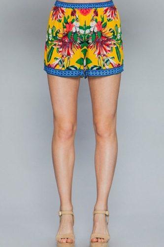 Floral Print Lounge Shorts
