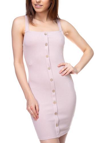 Button Down Ribbed Mini Dress