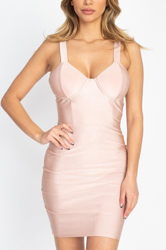 Satin Bustier Mini Dress