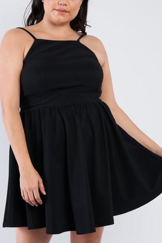 Plus Size Fit N' Flare Mini Dress