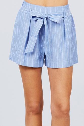 Waist Bow Tie Y/d Stripe Short Pants