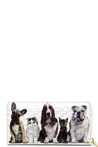 Chic Cute Pet Print Wallet