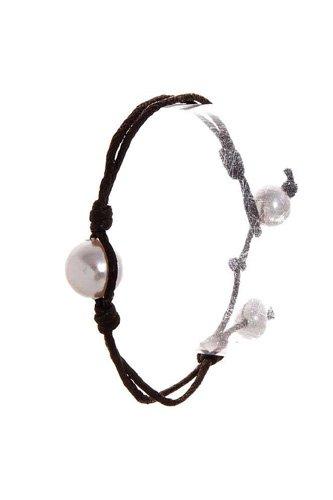 Fashion Pearl Accent Wire Bracelet