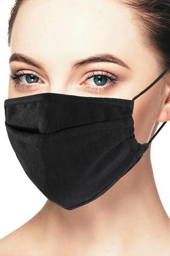 Linen Black 3d Reusable Face Mask