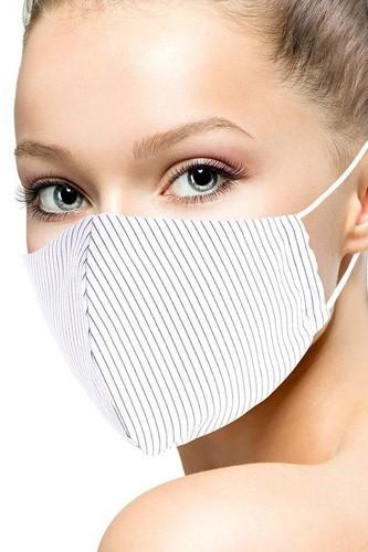 Cotton Stripe 3d Reusable Face Mask