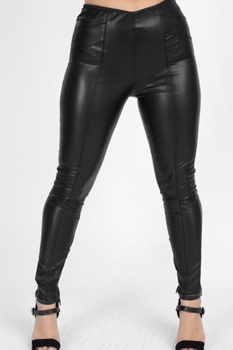 High Waist Faux Leather Pants