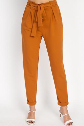 Paperbag Self Tie Pants