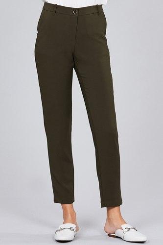 Seam Side Pocket Classic Long Pants