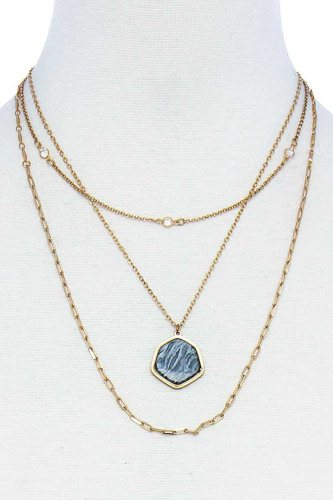 Triple Layer Stylish Pendant Necklace