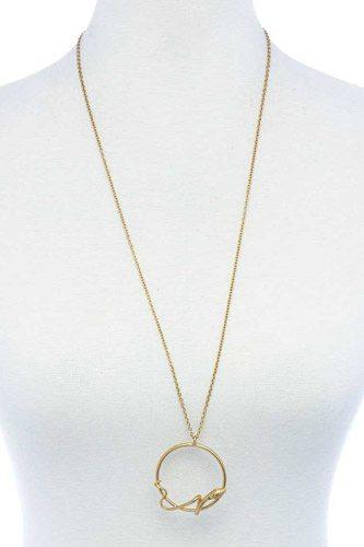 Designer Fashion Snake Ring Pendant Necklace