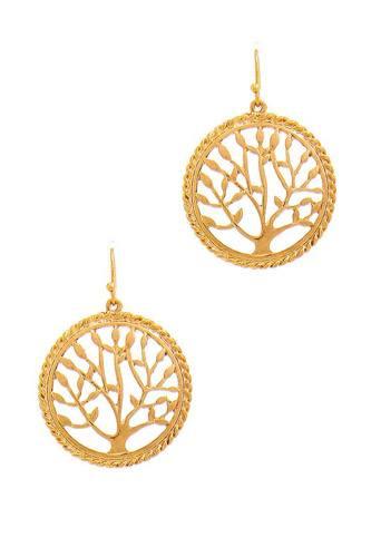 Stylish Circle Tree Drop Earring