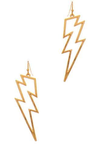 Stylish Lightning Outline Drop Earring