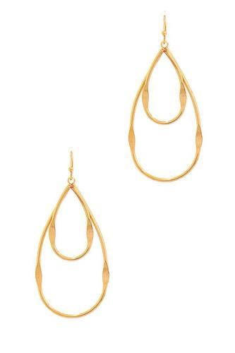 Fashion Double Tear Drop Out Line Earring