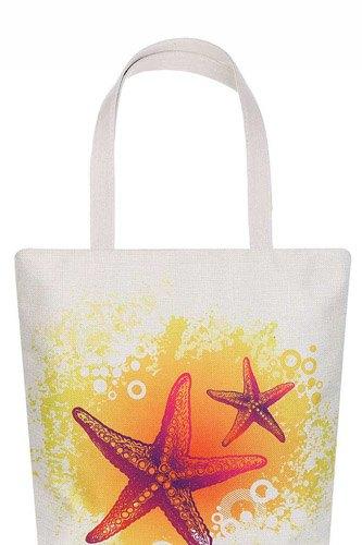 Stylish Star Fish Print Ecco Tote Bag
