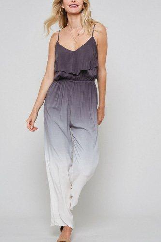 A Ombre Tie-dye Woven Jumpsuit