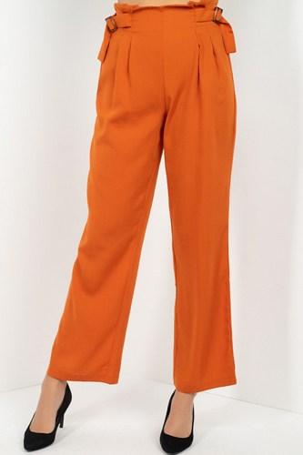 High Waist Paperbag Wide Pants