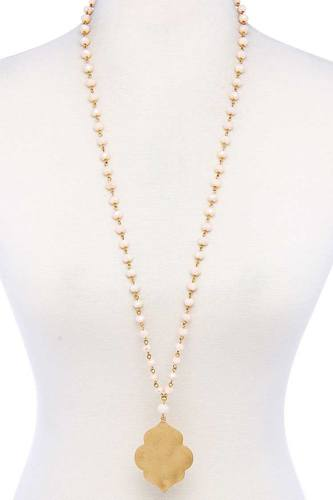 Designer Multi Bead Pendant Necklace