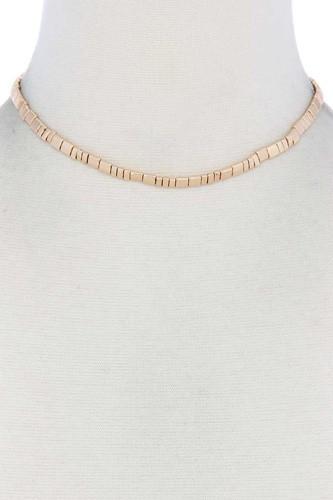 Metal Block Necklace
