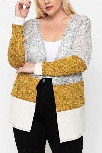 Color Block, Lightweight Cardigan