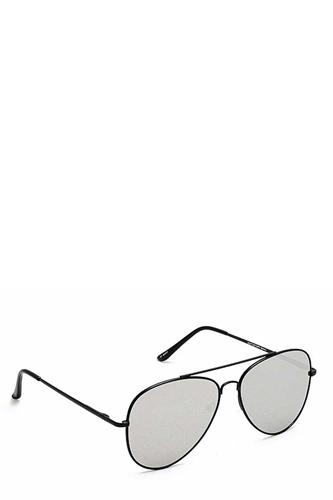 Trendy Black Framed Aviator Sunglasses