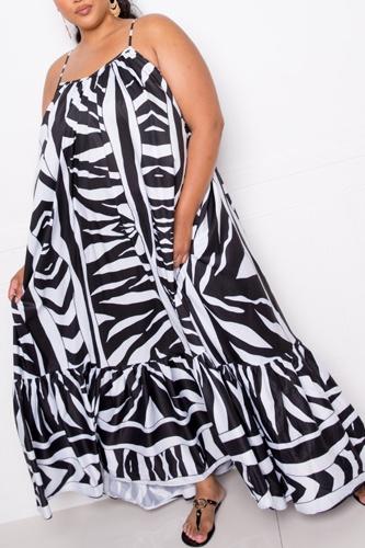 Printed Voluminous Maxi Dress