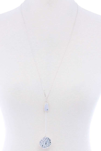 Fashion Y Chain Tin Necklace