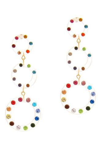 Fashion Triple Link Circle Design Earring