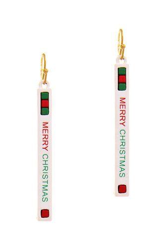 Trendy Merry Christmas Strap Design Earring
